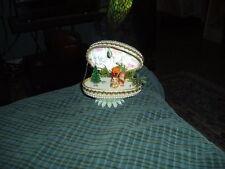 Vintage Jeweled Decoupage Folk Art Goose Egg W/ Chipmonk & Nature Unique Vg !