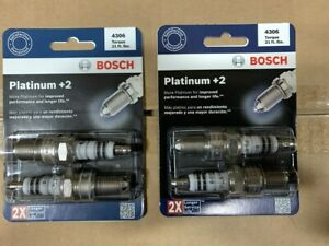 (4) BOSCH Platinum +2 Spark Plugs -  1983-1995 Toyota Pickup 22RE 22R 2.4L Truck