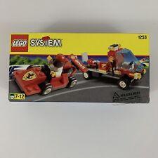LEGO System Shell Race Car Transporter Set #1253 Ferrari Formula Racer & Flatbed