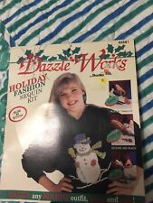 Dazzle Works Holiday Fashion Sequin Kit Glue or stitch New