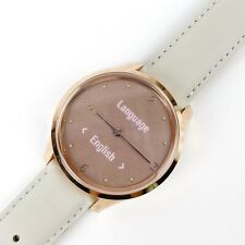 Garmin Vivomove Luxe Hybrid Smartwatch 18K Rose Gold PVD With Leather Wristband