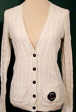 HOLLISTER RN 75654 – Cable Knit Ivory Rabbit Hair Blend Cardigan/Sweater Size: L