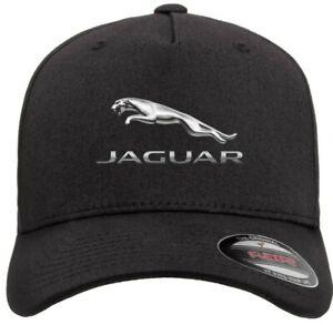 Jaguar Motor Car Auto Logo on Hat Flexfit Baseball Cap Printed Emblem S/M & L/XL