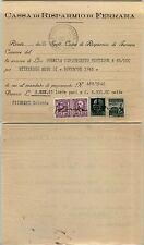 RSI-25c+25c Fascetto-Uso fiscale-ricevuta Cassa risparmio Ferrara Novembre 1945