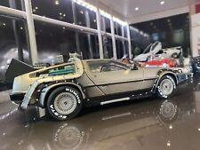 1/18 Sunstar Back To The Future DeLorean 1p Start No Reserve Mint In Box.