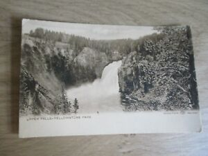 "Postcard: YELLOWSTONE PARK ""Upper Falls"" Wyoming, USA - HAYNES Unused"