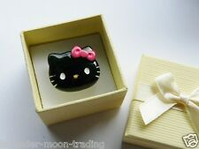 BLACK HELLO KITTY ADJUSTABLE SILVER RING WITH GIFT BOX, HANDMADE JEWELLERY