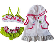 """Swimsuit & Coverup Outfit Teddy Bear Clothes Fit 14"""" - 18"""" Build-a-bear & More"""