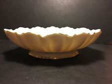 Vintage Lenox Symphony Long Low Oval Bowl Scalloped Edges 24K Gold Trim~Beauty!