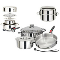 Magma Compact Nestable 7 Piece Stainless Steel Cookware Set for Boat RV Camping