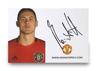 Nemanja Matic Signed 6x4 Club Card Manchester United Genuine Autograph + COA