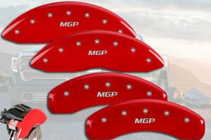 "2001-2007 GMC Sierra 1500 HD Front + Rear Red ""MGP"" Brake Disc Caliper Covers"