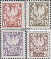 Polen P165-P168 (kompl.Ausg.) postfrisch 1980 Portomarken Staatswappen auf Schil