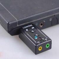 USB EXTERNAL 3D VIRTUAL 7.1 CHANNEL AUDIO PC LAPTOP SOUND CARD ADAPTER IP awy*-