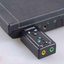 USB EXTERNAL 3D VIRTUAL 7.1 CHANNEL AUDIO PC LAPTOP SOUND CARD ADAPTER