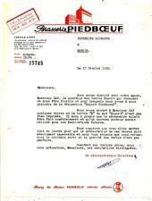 FACTURE BRASSERIE PIEDBOEUF A JUPILLE-LIEGE 1950