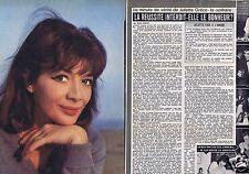 Coupure de presse Clipping 1963 Juliette Greco  (2 pages)