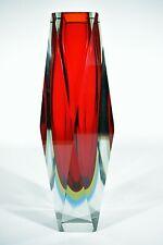 Murano Glasvase ° Schliffglas BLOCKVASE ° 3x sommerso ° Höhe 30 cm  Gew. 2,8 Kg.