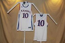 KANSAS JAYHAWKS  Adidas  #10   Basketball JERSEY  Large   NwT   wht   $55 retail