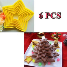 6PCS Star Shape Cookie cutter MOLD SET biscuit food Mould home Kitchen Decor