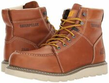 Caterpillar Men's Tradesman Tan Leather Lace Up Soft Toe Wedge Work Boot Size 14