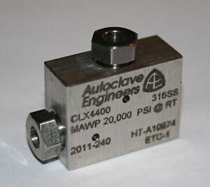 PARKER / Autoclave Engineers CLX4400 Medium Pressure Elbow Fitting - 20,000 PSI