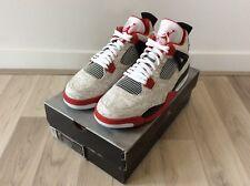 DS 2005 Nike Air Jordan 4 Retro Laser Bianco Rosso US 11.5 UK 10.5 OG cemento kaws