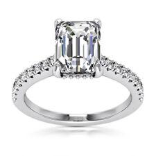 Solitaire 1.30 Carat Natural VVS2/H Emerald Diamond Engagement Ring White Gold