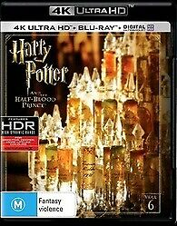 HARRY POTTER AND THE HALF BLOOD PRINCE 4K ULTRA HD & BLU RAY - LIKE NEW