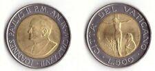 1987 Vaticano Lire 500 Bimetallica Giovanni Paolo II Anno IX Fior di Conio Unc
