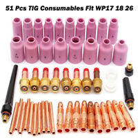 18 pcs TIG Welding Torch Gas Lens Kit Lengthened Nozzle WP-17//18//26 WP 2.4-4.0