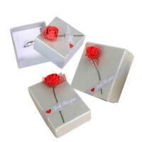 1 PC Romantic Rose Jewelry Box Necklace Bracelet Ring Earring Storage Gift Box