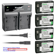 Kastar Battery Dual Rapid Charger for Canon LP-E6 & Canon EOS 7D SV Canon Grip