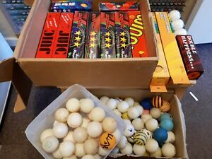 Selection of New and Used Ping Pong / Table Tennis Balls