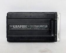 Graphic 2 1/4 x 3 1/4 Metal Film Pack Adapter Holder Medium format Graflex
