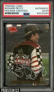 1993 ACTION PACK NASCAR RACING RICHARD PETTY SIGNED CARD PSA DNA AUTOGRAPH