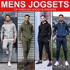 Mens Full Tracksuit Set Zip Up Hoodie Hoody Jogging Bottoms Joggers By Enzo