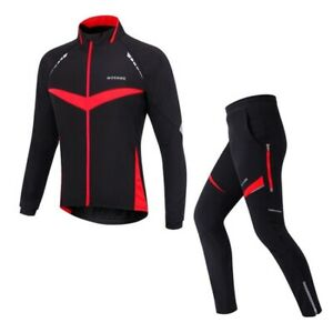 Winter Riding Suits Thermal Cycling Long Sleeved Jackets Windproof Bike Pants
