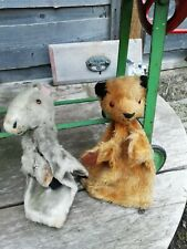 Vintage 1950's Glove puppets Chad Valley Sooty and Muffin the Mule
