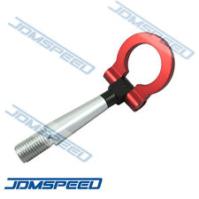 NEW RED RACING SCREW IN TOW HOOK FRONT REAR FOR 2008-2014 MITSUBISHI LANCER EVO