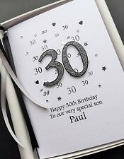 30th BIRTHDAY CARD FOR MEN Son Grandson Fiance Brother Husband Personalise Boxed