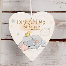 Disney Dream Big Sleeping Dumbo Hanging Plaque Magical Beginnings Baby Gift Nurs