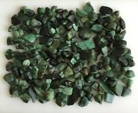 500 Ct Scoop Natural Emerald Green Sawed Rough Loose Gemstone lot Raw 6 - 12mm