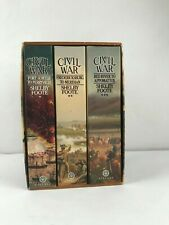 Civil War Vol: 1-3 Book Series Shelby Foote Paperback 1974