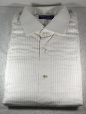 Ralph Lauren Purple Label Poplin Tuxedo White French Cuff Shirt Size 16 NEW