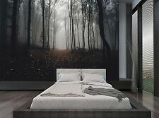 Dark Autumn Scary Forest Woods Trees Wall Mural Photo Wallpaper GIANT WALL DECOR