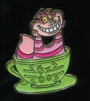 HKDL Hong Kong Magic Access Mad Hatter Tea Cup Mystery Cheshire Cat Disney Pin