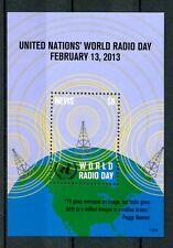 Nevis 2013 Gomma integra, non linguellato ONU NAZIONI UNITE World Radio giorno 1v S/S Peggy Noonan FRANCOBOLLI