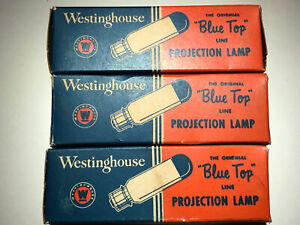 Vintage Westinghouse Projection Lamp CLX-CMB 120V 300W Blue Top T8 1/2 C13 Fila