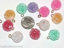 6pc. Christmas Lot Sugar ball Candy charm beads findings supplies crafts 15mm **